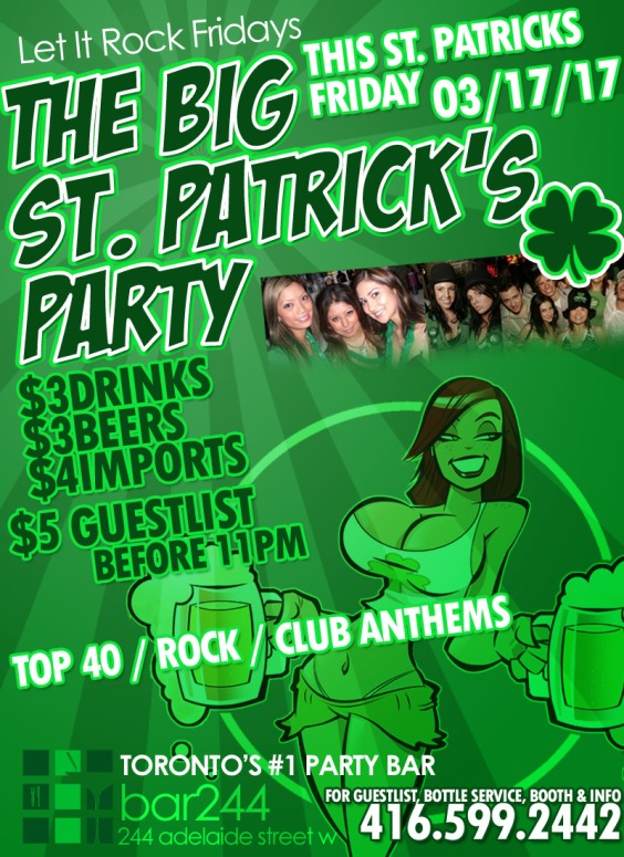 THE BIG ST PATRICKS PARTY