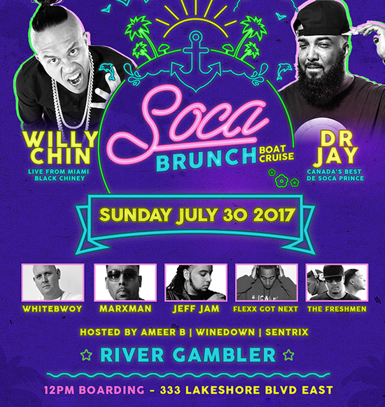 SOCA BRUNCH | Caribana Launch Cruise