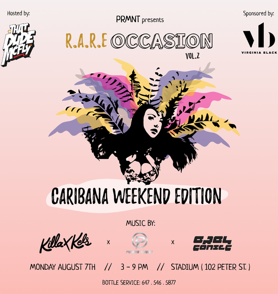 R.A.R.E Occasion Vol.2 Caribana Rooftop Day Party