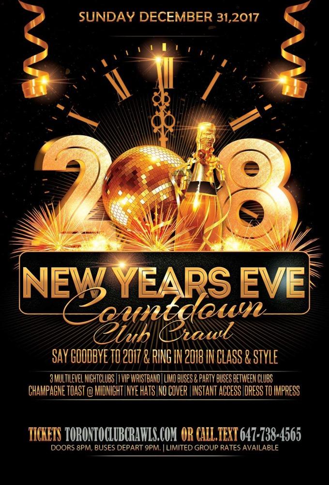 Countdown Nye Club Crawl 2018 Various Venues