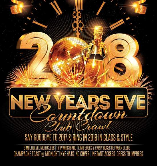 Countdown NYE Club Crawl 2018