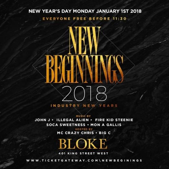 New Beginnings 2018 @ Bloke Lounge (Toronto