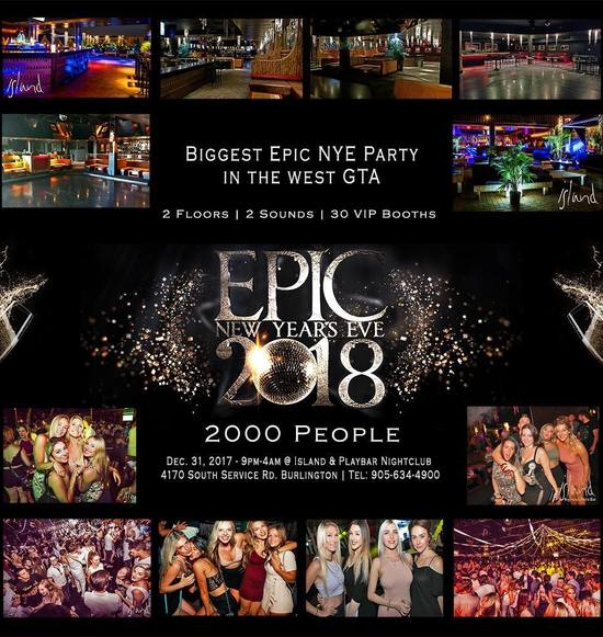 EPIC NYE 2018 in Burlington