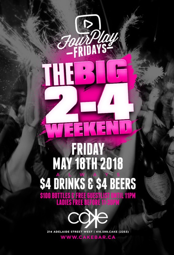 FourPlay Fridays | May 2-4 Long Weekend