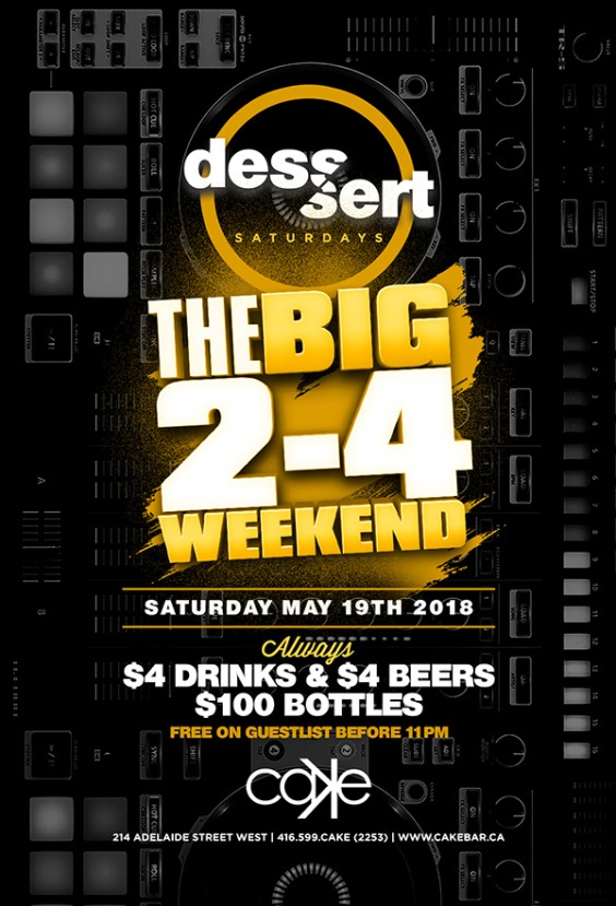 Dessert Saturdays | May 2-4 Long Weekend