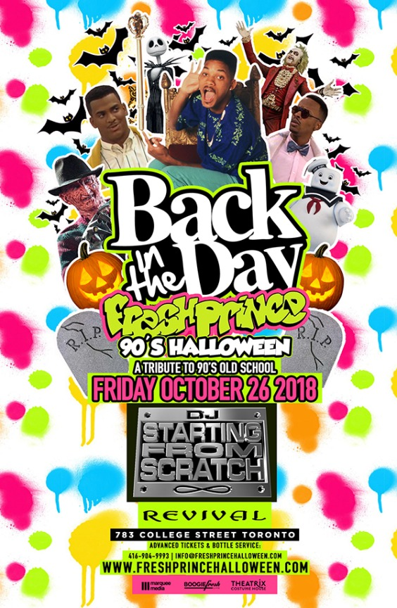 Fresh Prince of Bel-Air 90's Halloween w/ DJ Starting From Scratch