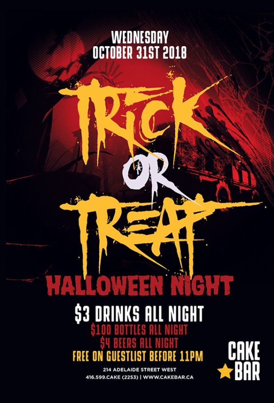 TRICK OR TREAT | Halloween Night Wednesday October 31st