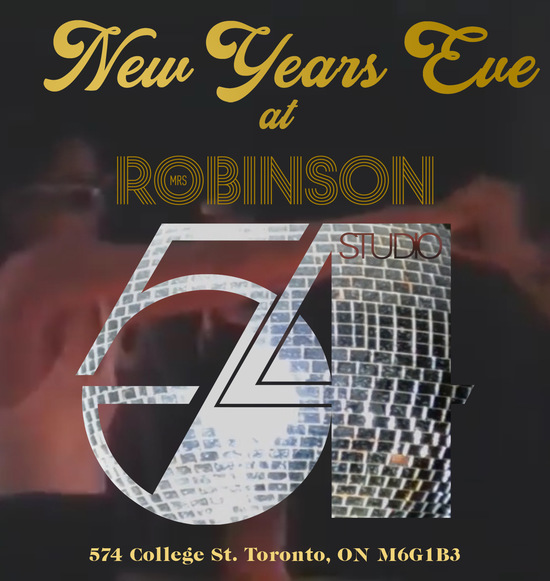 NYE at Mrs Robinson
