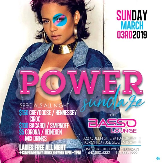 THE NEW INDUSTRY NIGHT (POWER FRIDAYS) BASSO LOUNGE (TORONTO)