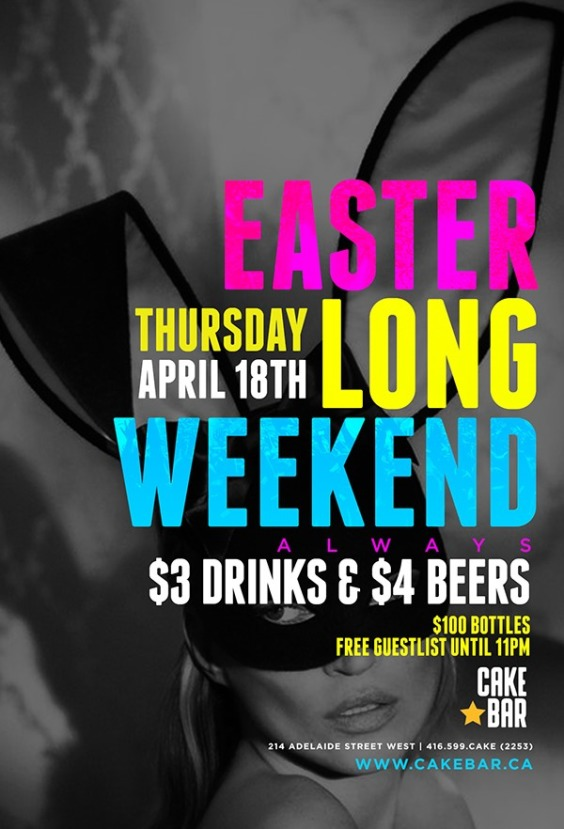 Easter Thursday Long Weekend Special
