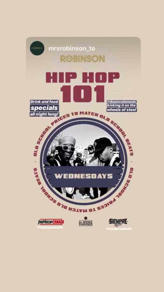 Hip Hop 101 Wednesdays