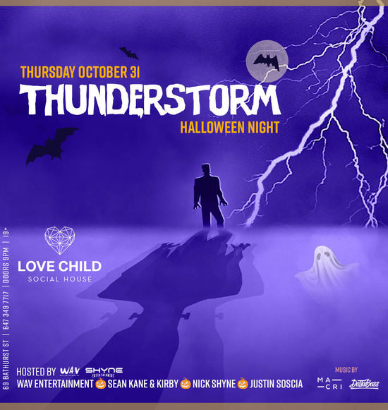 Thunderstorm Halloween Night
