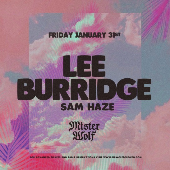 Lee Burridge w Sam Haze