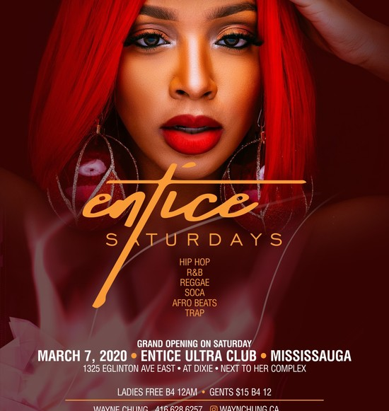 ENTICE SATURDAYS |  ENTICE ULTRA CLUB