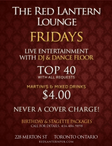 FRIDAY NIGHTS at the Red Lantern Lounge