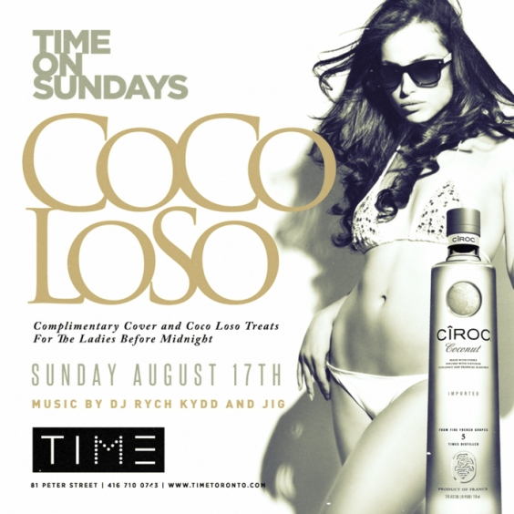 COCO LOSO AT TIME ON SUNDAY