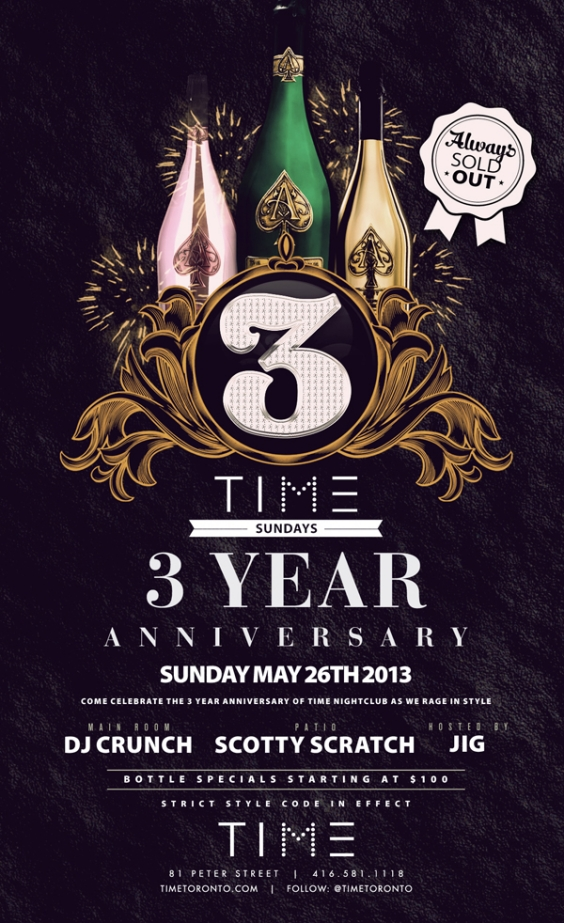 TIME SUNDAYS 3 Year Anniversary