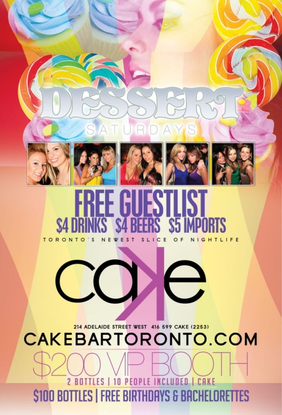 DESSERT SATURDAYS | $200 Booths | $4 Drinks | $4 Beers | $5 Imports | FREE Guestlist