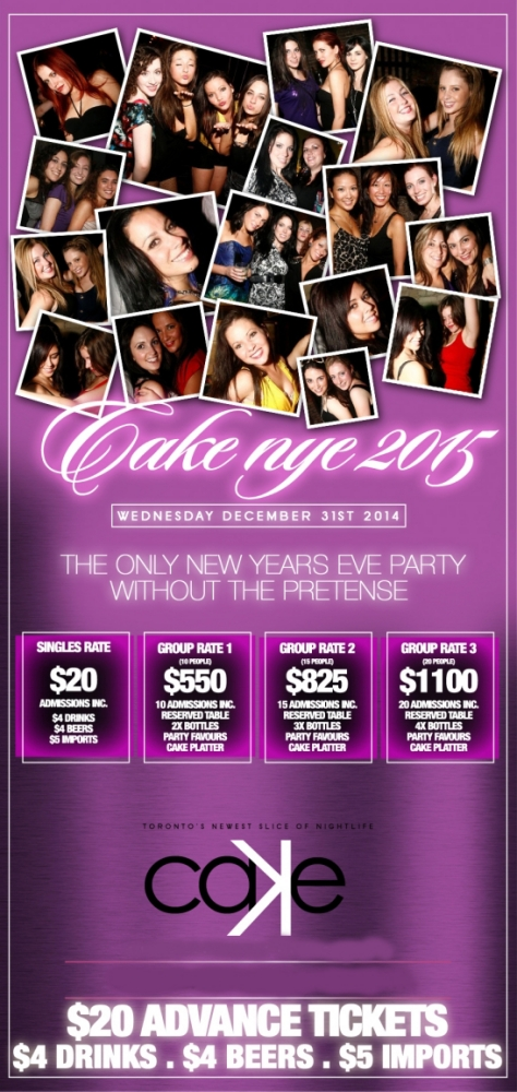 Cake New Years Eve Tickets : Cake New Years Eve @ Cake Nightclub (Toronto)
