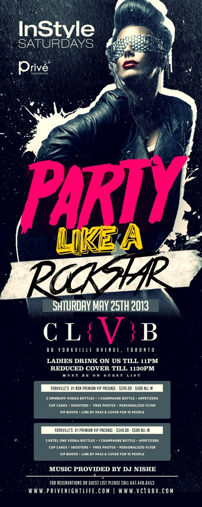Ladies drink free till 11pm | party like a rockstar – yorkville chic