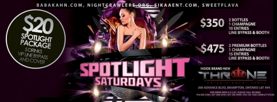 SPOTLIGHT SATURDAYS @ THRONE