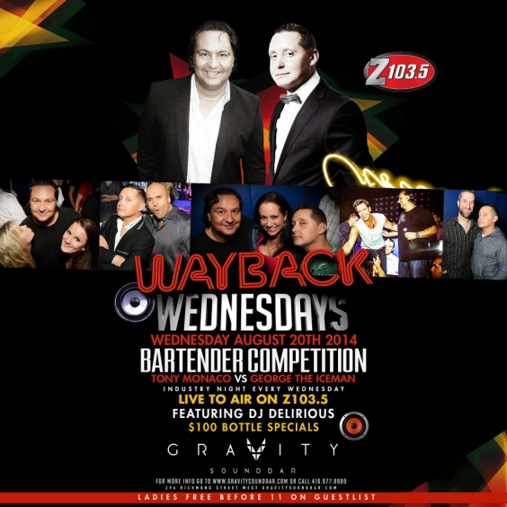 WAYBACK WEDNESDAYS - BARTENDER COMPETITION