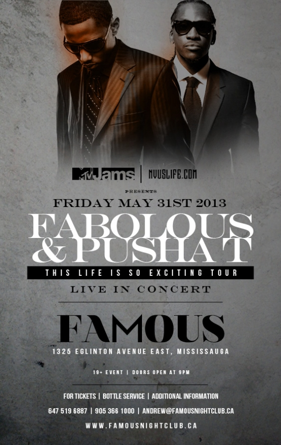 Fabolous & Pusha T Live in Concert