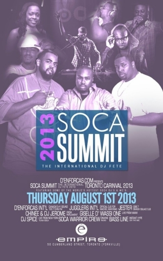 SOCA SUMMIT: The International DJ Fete