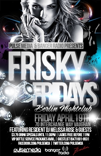 FRISKY FRIDAYS at Berlin Nightclub
