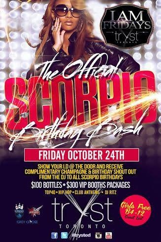 I AM FRIDAYS~SCORPIO PARTY