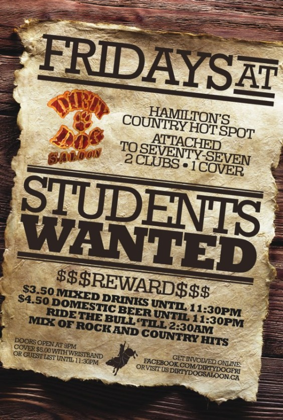 Students Wanted