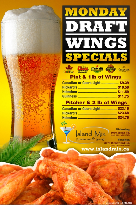 Monday Draft Wing Special