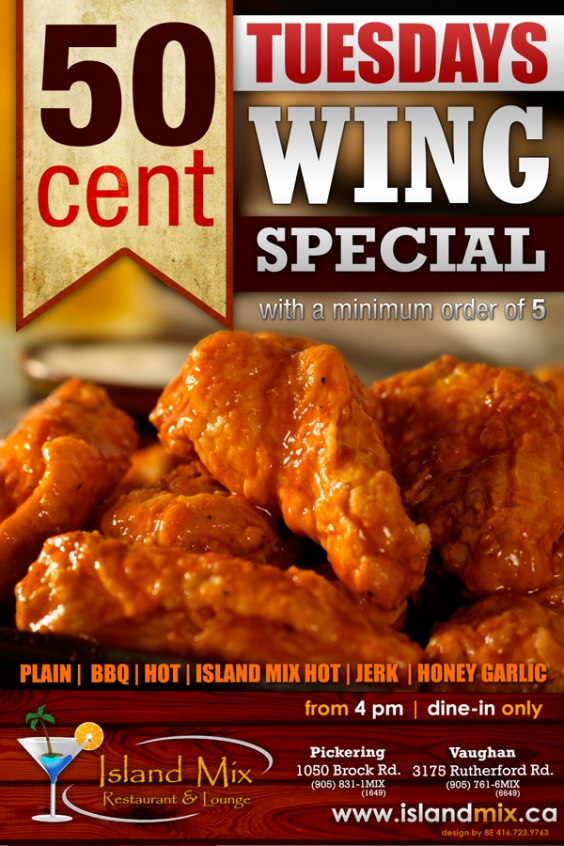 Tuesday 50 Cent Wing Special