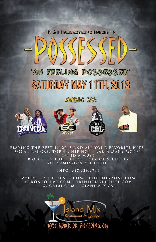 Possessed @ Island Mix (Pickering) Lounge (Pickering)