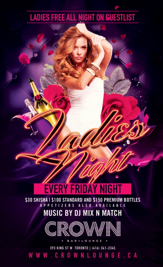 LADIES NIGHT, SHISHA NIGHT FRIDAYS