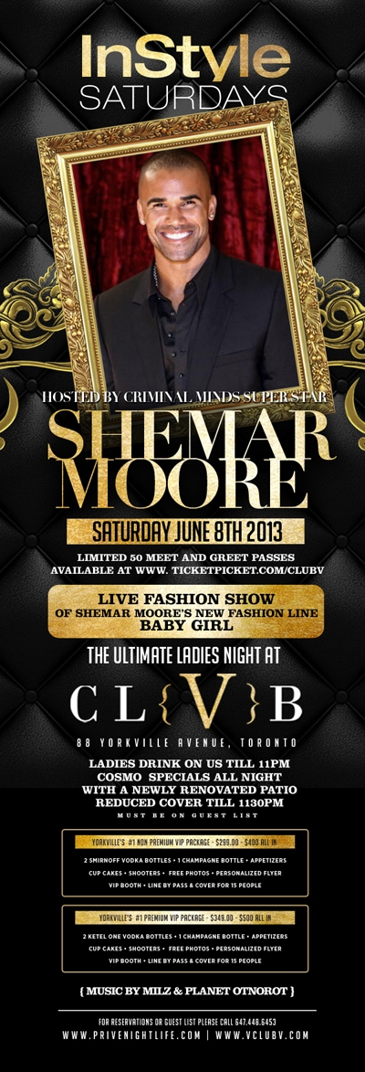 Ladies drink free till 11pm | SHEMAR MOORE LIVE from Criminal Minds – Meet & Greet
