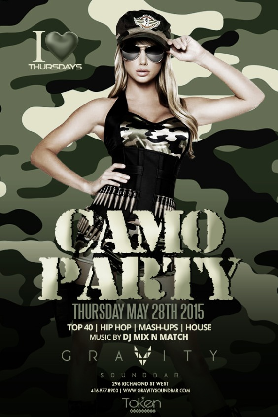 I LOVE THURSDAYS - CAMO PARTY