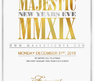 Majestic New Year's Eve is one of Toronto's largest and most elegant New Year's Eve events, with room to accommodate over 2,000 people.